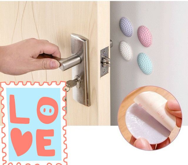 ECM#BAO Cabinet Furniture Table Thickened Wall Mute Anti-flip Door Handle Lock Protective Shock Crash Rubber Pads For Chair Legs 4