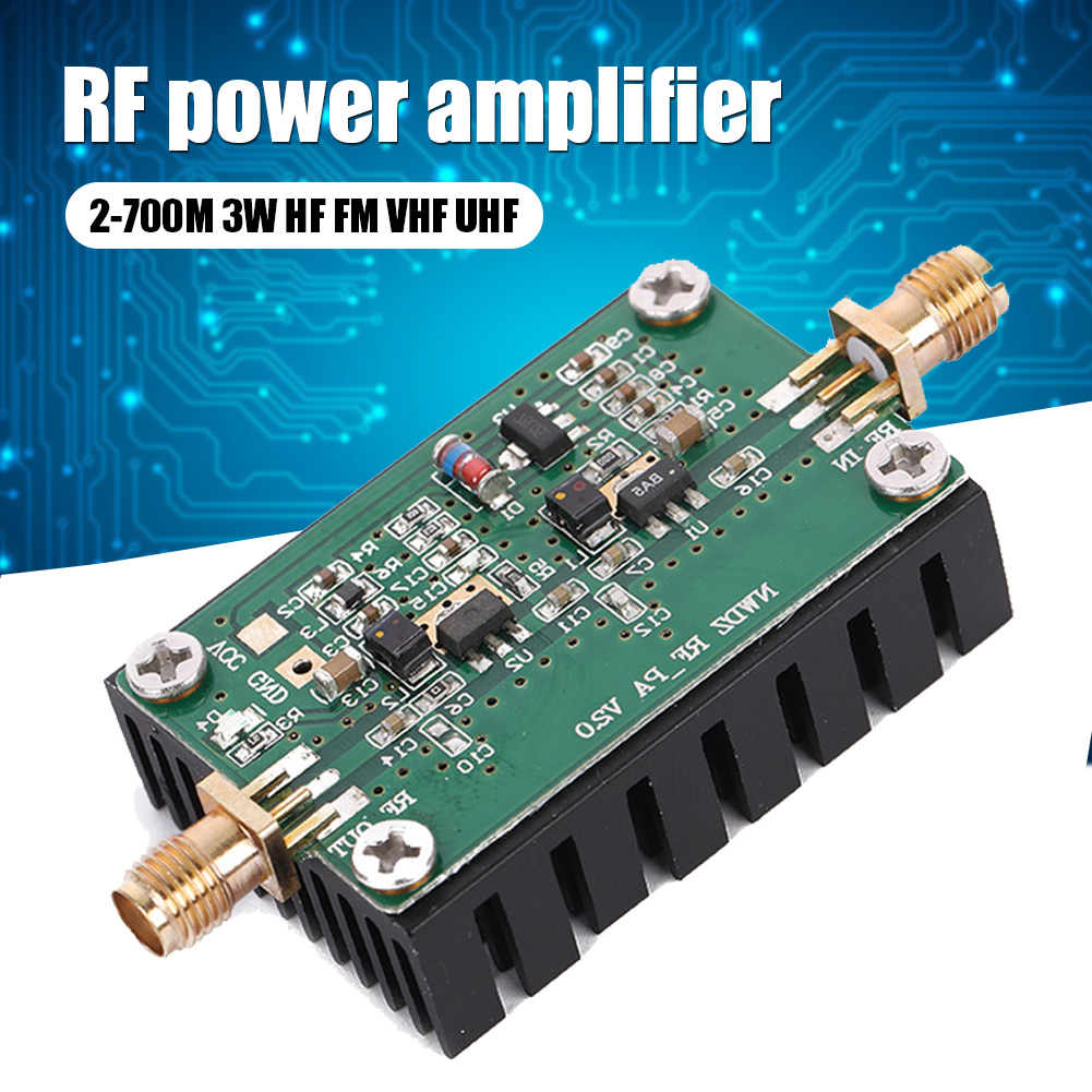 2-700 м 3 Вт HF FM VHF UHF FM передатчик широкополосный Радиочастотный усилитель мощности Цифровой аксессуар VH99
