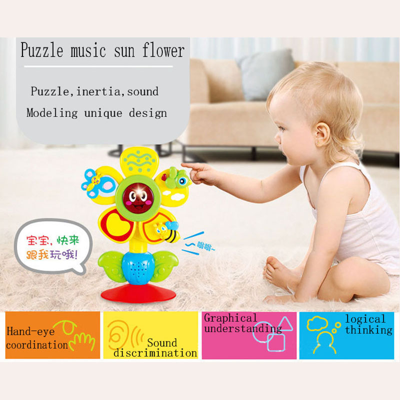 2019 New Rotating Dining Chair Baby With Suction Cup Children Rattle Toys