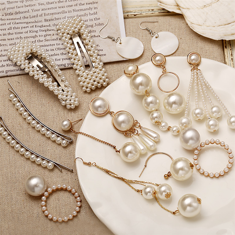 H0db46fe302614f8093a2ba730ac8a673f - 17KM Oversize Pearl Hoop Earrings For Women Girls Unique Twisted Big Earrings Circle Earring Brinco Statement Fashion Jewelry