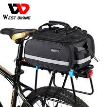 WEST Cycling sacoche de vélo imperméable de grande capacité, sac pour vélo VTT, sac pour porte bagages de bicyclette
