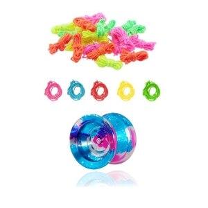 Magic yoyo 25x100% полиэстер профессиональные струны Yoyo случайный цвет и 1x YoYo Y01 серия Металл Yo-Yo Y01 игрушка узел