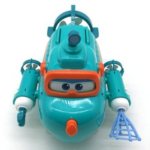 Super Wings Willy's Submarine Boat with Sound Music Light Deformation Action Figure Set Simulation Model Gift Toys
