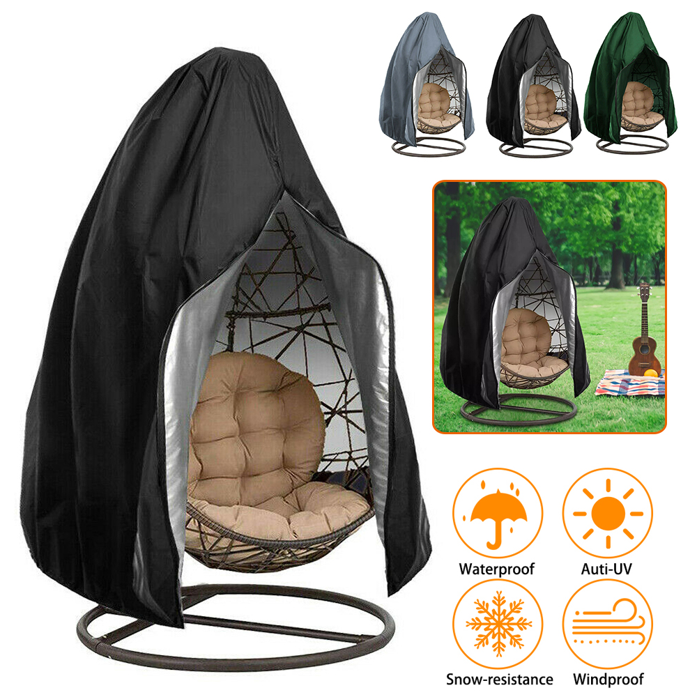 Outdoor Waterproof Garden Furniture Garden Swing Zipper Protective Balcony Furniture Cover Hanging Egg Swing Chair Cover D30
