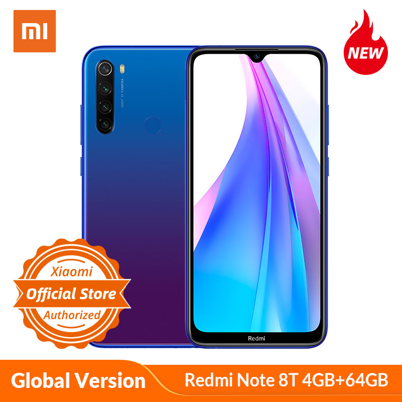 Xiaomi Redmi Note 8 T Note 8T Global Version 4GB 64GB Smartphone Snapdragon 665 Octa-core 48MP Camera 4000mAh 18W Charge NFC