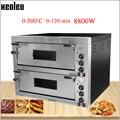 XEOLEO Хлебные Печи Коммерческая печь для пиццы электрическая печь для выпечки Вертикальная двухслойная печь для пиццы с шифером 9000W 380V