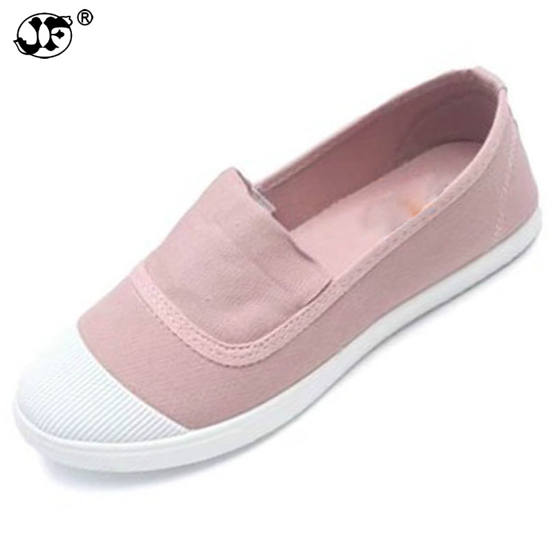Women's Vulcanize Shoes Flats Heel Loafers Canvas Espadrilles Slipony Oxford Shoes For Girls Slip On Women White Black Creepers8