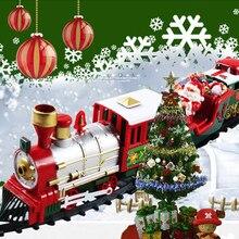 Jouet électrique de Train de voiture de Rail de noël jouet électrique pour enfants ensemble de Train ferroviaire jouets de construction de transport routier de course