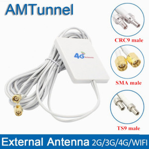 4g LTE Antenna 3G 4G Panel antenna with SMA TS9 CRC9 Connector 3m cable for Huawei Huawei E8372 E3372 B315 Router USB Modem