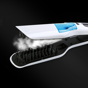Image 4 - LCD Hair Steam Straightener Electric Brush Hair Hair Flat Iron Vapor Plate Led Ferro Dry & Wet Hair Iron Steampod Styling Tool