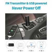 fm משדר USB לרכב 5.0 Bluetooth מתאם מקלט FM מתאם אלחוטי משדר (3)