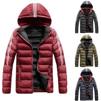 2021 NEW Hooded Down New Warm Winter Jacket Men Winter Warm Hooded Softshell for Windproof Soft Coat Shell Jacket пуховик 1