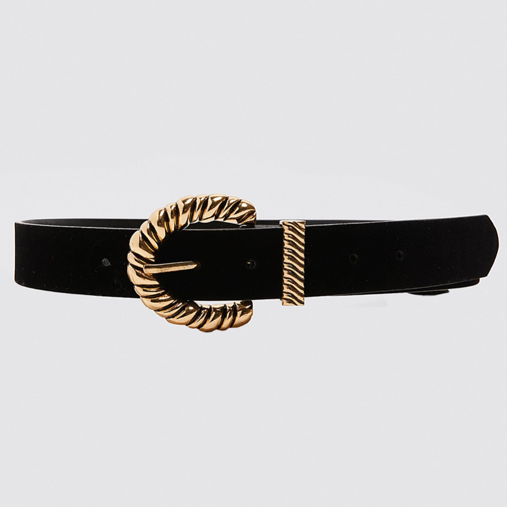 H0db55f1a07f947c789953955c92f4b9bD - Girlgo Newest Vintage Velvet Buckle Belt for Women Punk Metal Gold Color Belly Chain Accessories Jewelry Party Gifts Bijoux