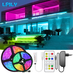 RGBWW LED Strip Light SMD2835 5050 5M 10M Waterproof RGB Led Tape DC12V Ribbon diode led lights Lamp with IR Remote Control