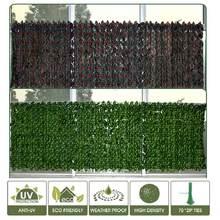 Haie artificielle de feuilles de raisin, rouleau de criblage de feuilles vertes, clôture de Garde, Protection UV, accessoires de jardin pour la décoration
