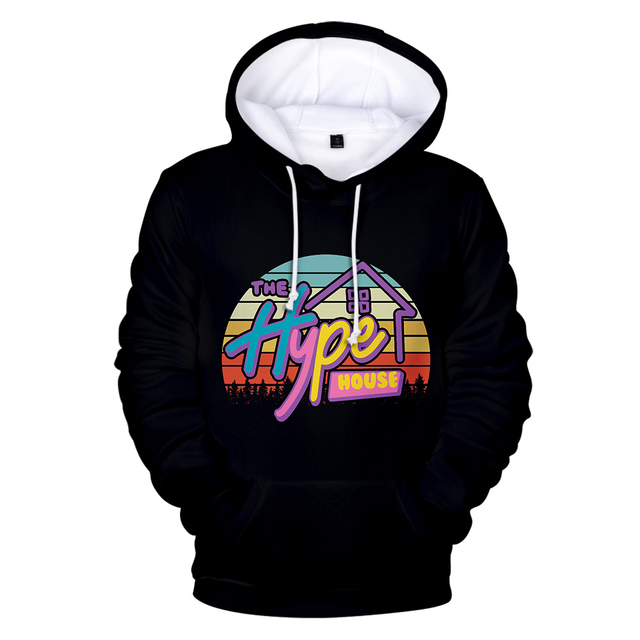 3D THE HYPE HOUSE THEMED HOODIE (8 VARIAN)