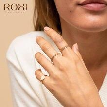 ROXI – bagues de mariage à corde torsadée en argent Sterling 925, anneaux empilables, bijoux de fête, cadeau de fiançailles