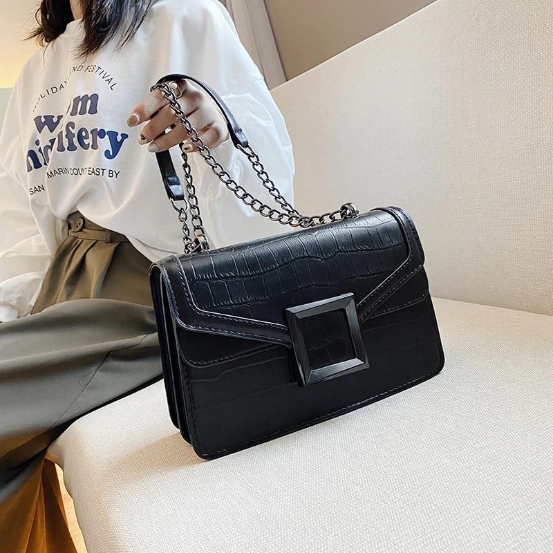 Fashion Candy Womens Rivets Handbags Chain Crossbody Shoulder Bag Clutch Totes