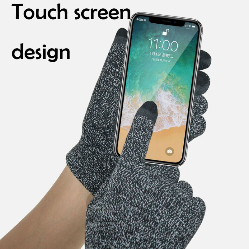2020 New Unisex Winter Warm Capacitive Knit Gloves Hand Warmer For Touch Screen Smart Phone