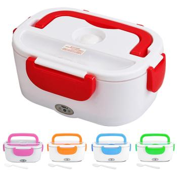 1.5L Electric Heating Lunch Box Home & Car 12V 220V Plug-in Lunch Boxes plastic or steel Food Container Portable Dish Bento Box 1 5l 110 220v portable electric lunch box food grade bento lunch box heating food container 2 in 1 food warmer eu us car plug