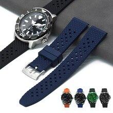 Unikalnie zaprojektowane kauczuk fluorowy pasek nowy bransoletka o strukturze plastra miodu pasek szybkiego zwalniania 18mm 20mm 22mm dla każda marka zegarki pasek