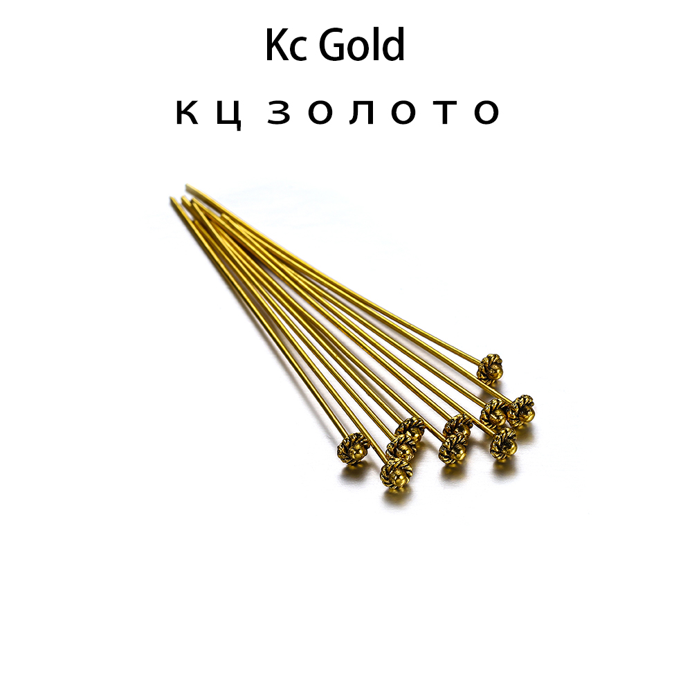 Accessorie 20Pcs 50Mm Gold Flower Head Pins for Jewelry Making DIY Beads Ball Pins Needles Findings Women Jewelry Accessorie Headpin-2Multicolor
