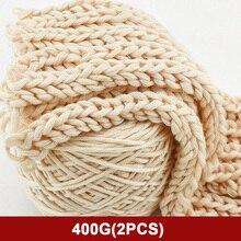 400 г натуральная мериносовая шерсть плотная пряжа войлочная шерсть-ровинг мягкая пряжа для прядения ручного вязания пряжа зимняя теплая свободная игла
