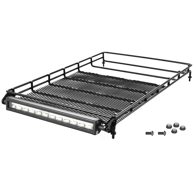 RC Spare Parts P860016 Roof Rack with Light Bar for RGT EX86100 Rock Cruiser RC Crawlers