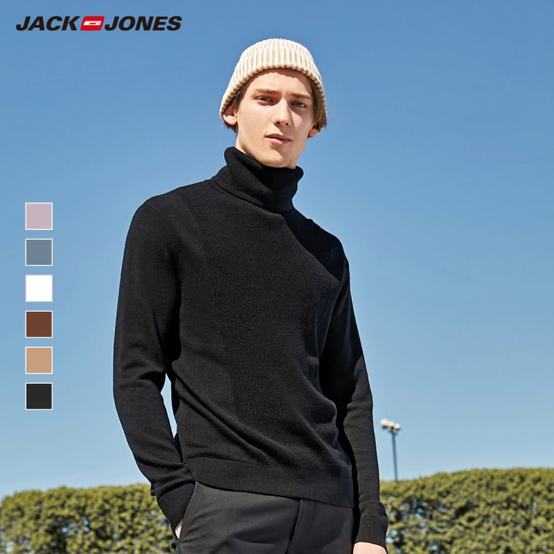 JackJones Men's Smart Casual Light Colour Long-sleeved Turtle Neck Sweater 219324525