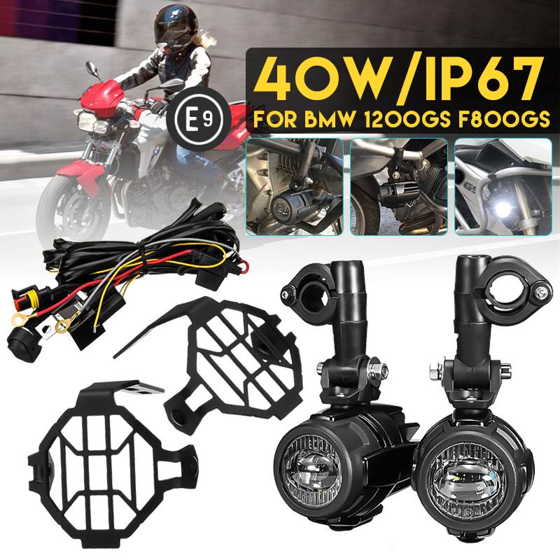 Motorcycle Fog Light Spot Lamp LED Auxiliary Driving Light Wire Harness For BMW R1200GS/ADV K1600 R1200GS R1100GS