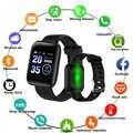116 Più Il Tasso di Cuore Smartwatch Bluetooth Intelligente Wristband Della Vigilanza Delle Donne Degli Uomini di D13 Sport Orologio per Android Del Telefono di Apple Pk Iwo 8 B57