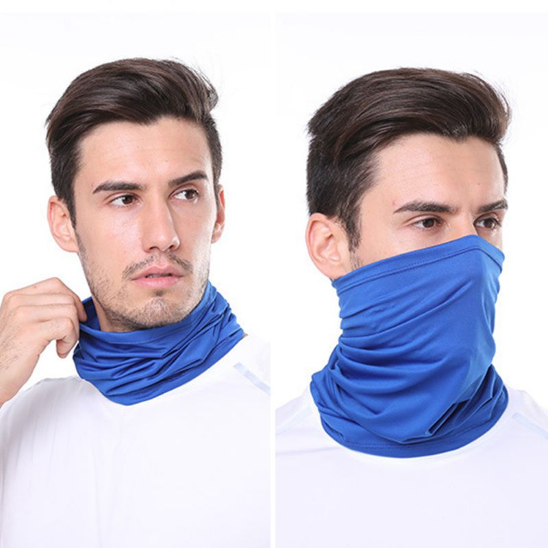 1pc Cycling Hiking Scarves Outdoor Sports Multifunctional Neck Mask Windproof Dustproof Rashguard Breathable Seamless Bandanas