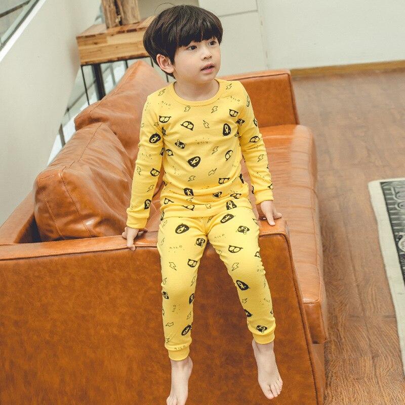 CHILDREN'S Underwear Suit Pure Cotton Korean-style Baby Thermal Underwear Men And Women Child Autumn And Winter Pajamas Boy Warm