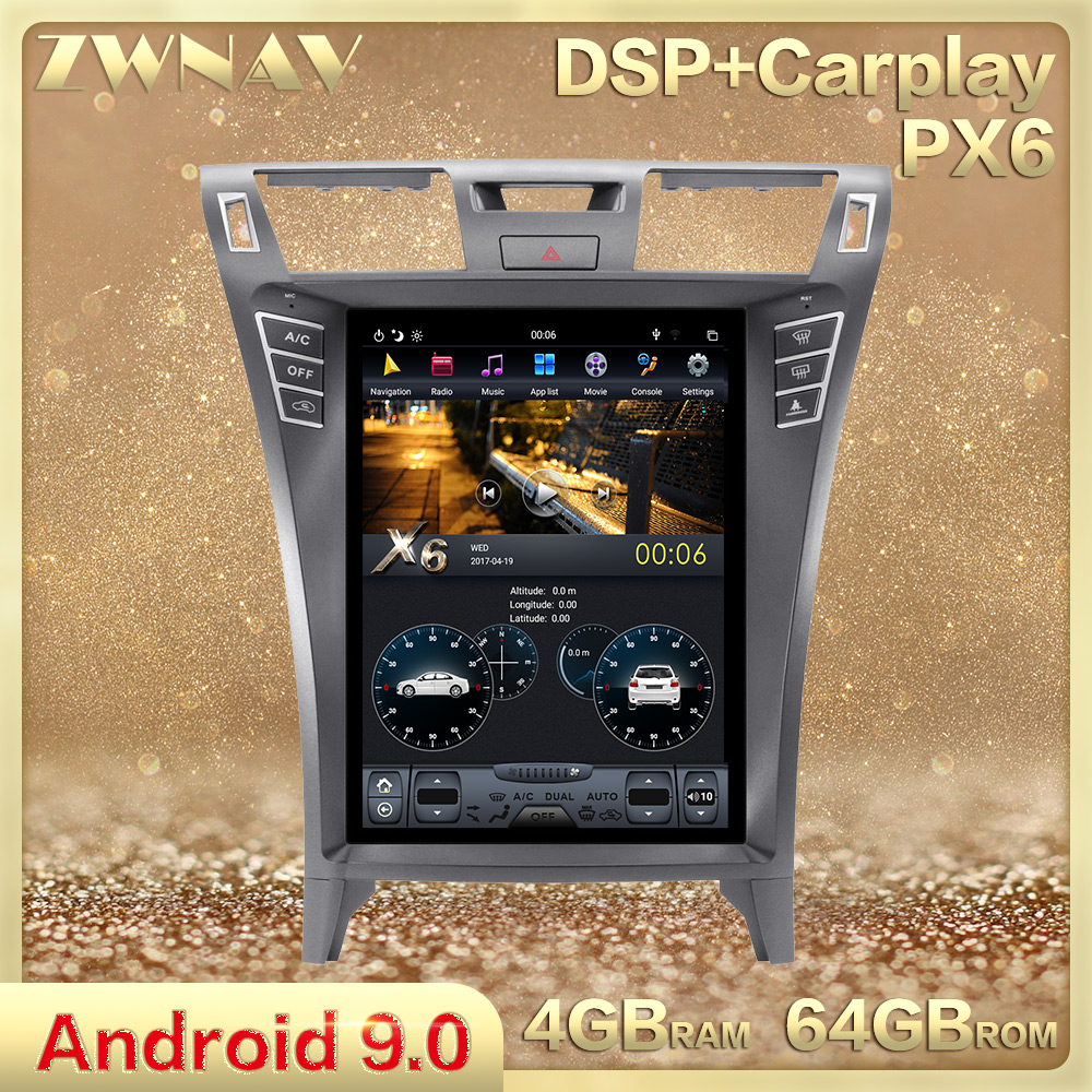 Tesla style Android 9.0 Car Multimedia player For Lexus LS460 2006-2012 Radio Stereo GPS Navi Audio vertical screen BT head unit image