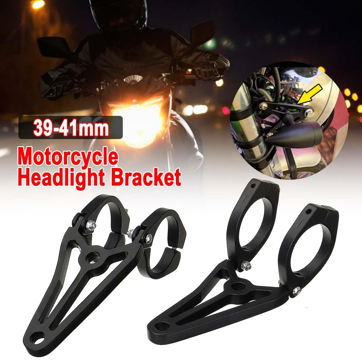 Universal-Motorcycle Headlight Head Light Mount Brackets Holder Fork39-41mm  For-Yamaha For Ducati For Suzuki For Kawasa