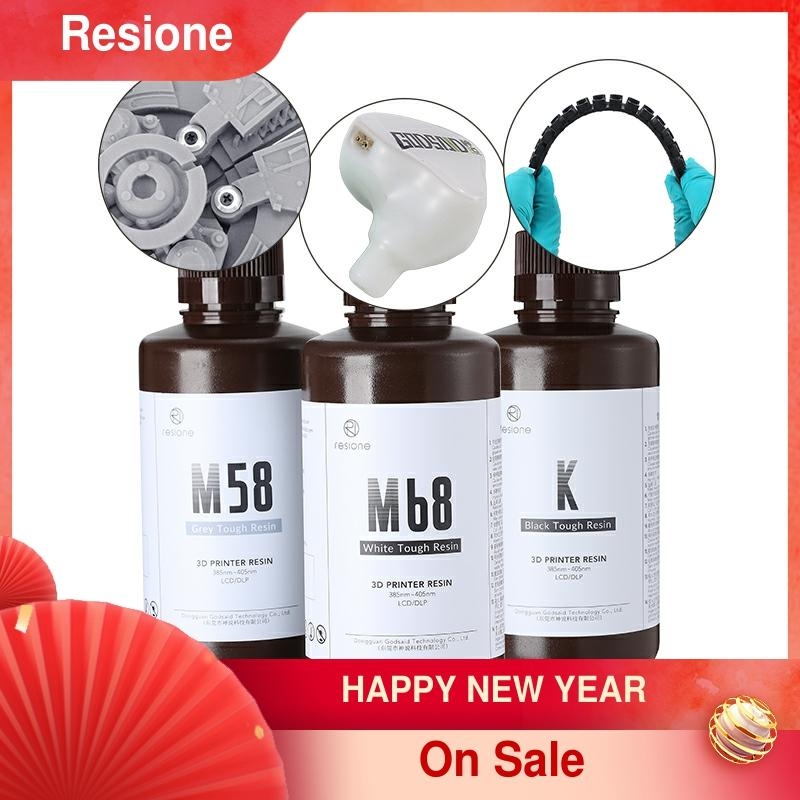 Resione 500g resistente abs-como impressora 3d resina elegoo anycúbico sla dlp lcd 405nm resina uv impressora 3d