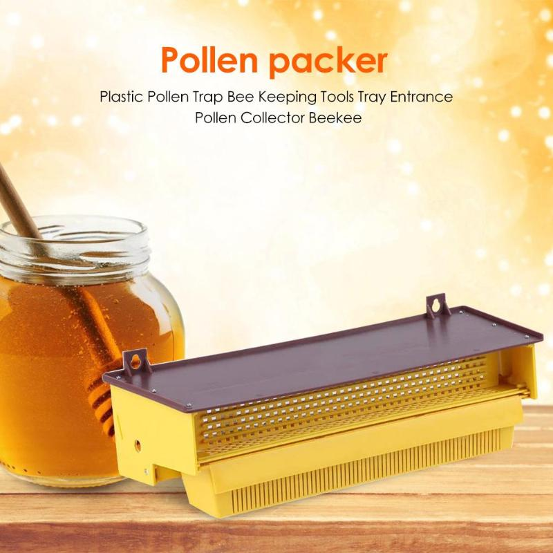 Pollen Trap Bee Keeping Tray Work Exquisite Bee Hive Entrance Beekeeping Apiculture Tools Home Garden Essential Supplies Durable