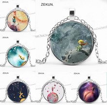 LIAOZEKUN,2019 / new little prince bump glass pendant necklace men and women jewelry.