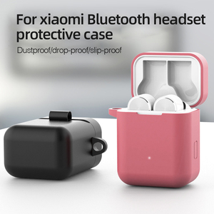 Image 2 - Silicone Protective Earphone Case for Xiaomi Air 2 S Cases Bluetooth Headphones Boxs For Xiaomi Mi Air2S Earbuds Cover