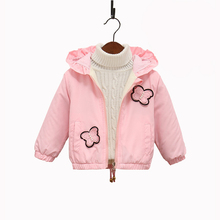 Baby Girls Jacket Autumn Winter Children Clothing Warm Hooded Outerwear Coat For Girls Clothes Kids Jacket 1 2 3 4 5 6 Years winter long jacket for girls 5 10 11 years fashion cotton parka kids european girls clothing beautiful autumn warm coat children