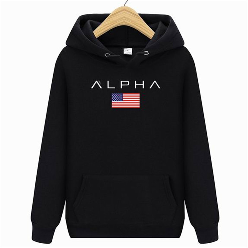 2019 Men's High Quality Alpha Industries Letter Print Fashion Men's Hoodie Men's / Women's Autumn And Winter New Brand Sweatshir