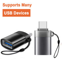 Portable New USB-C USB 3.1 Type C Male To USB 3.0 Female Data OTG Converter Anti-lost Adapter(China)