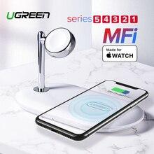 Ugreen MFi Wireless Charging Stand voor Apple Horloge Charger 5/4/3/2/1 Serie Originele magnetische Wirelss Charger Stand Fast Charger