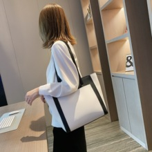 Fashion Contrast Color Pu Women Shoulder Bags Casual Big Handbag For Women Tote Female Luxury High Capacity Handbag Shoulder Bag tinkin high capacity soft casual pu leather female handbag fashion women shoulder bags daily women tote all match messenger bag