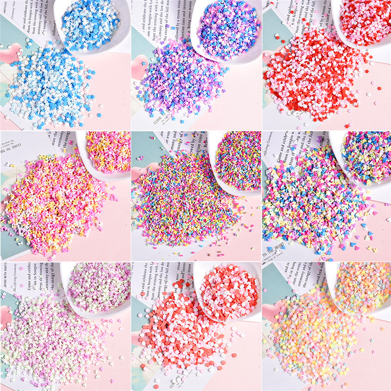 100g Slime Clay Sprinkles For Filler For Slime DIY Supplies Candy Fake Cake Dessert Mud Decoration  Accessories Toys For Childre