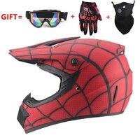 Free Shipping cross motorcycle helmet mens moto helmet Downhill MTB DH off road motocross racing helmet with3 gifts
