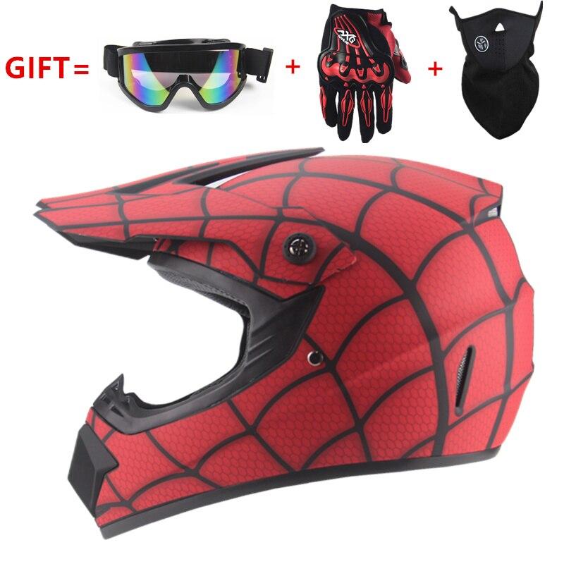 Livraison gratuite cross moto rcycle casque hommes moto casque descente vtt DH hors route moto cross racing casque DOT with3 cadeaux