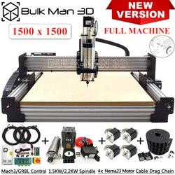 Novedad de 1515, máquina enrutadora CNC WorkBee, Kit completo de 4 ejes fresadora CNC, Kit completo de grabado de Metal y madera de plástico
