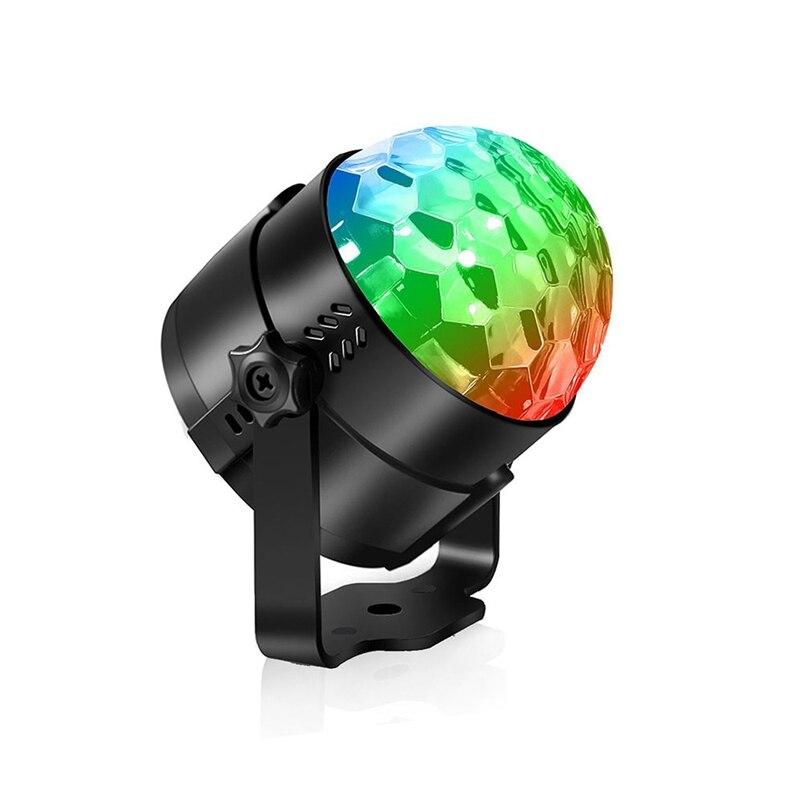 Işıklar ve Aydınlatma'ten Sahne Aydınlatması Efekti'de 3W RGB disko topu parti sahne ışığı ses aktif USB araba DJ sihirli LED çocuk hediyeler için kulübü doğum günü bar noel uzaktan kumanda ile title=