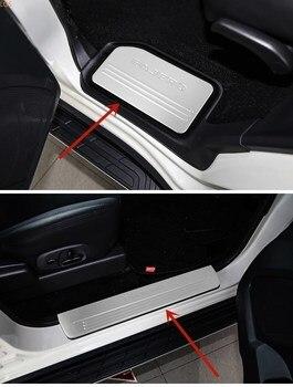 stainless steel Threshold bar Trunk guard Shield Anti-scratch Car styling For Mitsubishi  PAJERO V93 V73 V97 V98 2003-2019